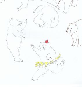 Warm Up Bear Sketches