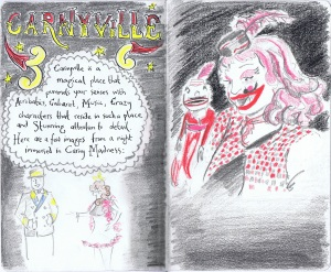 Carneyville circus characters