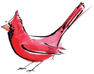 cardinal bird a garden bird in america