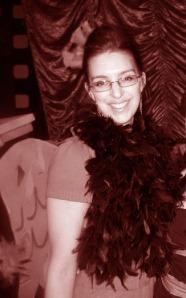 photo of me in cardinal bird fancy dress costume