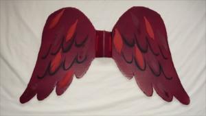 red wings for fancy dress costume caardinal bird