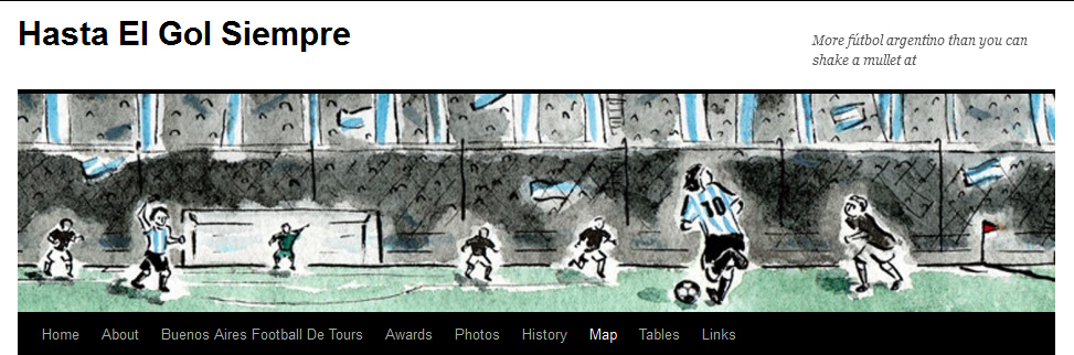 website header of Argentine football players