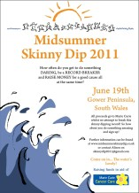 midsummer skinny dip poster by Laura Elliott at Drawesome Illustration, Bristol. Illustration, Design, Whimsy