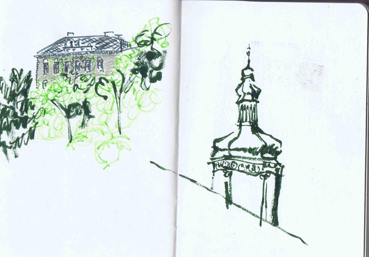excerpts of buildings around kutna hora