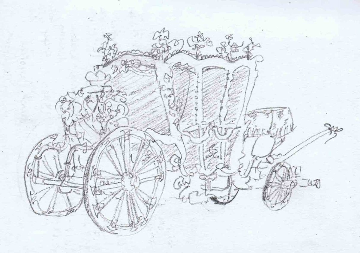 royal carriage on display at Archdiocesan Museum