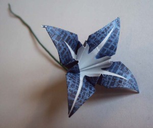 iris origami flower