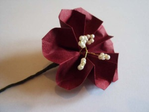 buttonhole origami flower