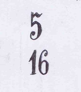 biro drawing of pew numbers at saint marien cathedral