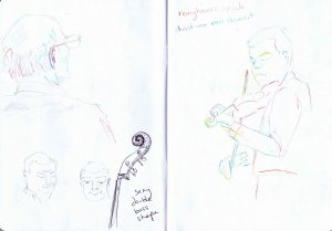 gossington festival - sketch double bass and christiaan van hemert