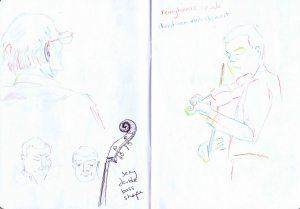 gossington festival - sketch double bass and christiaan van hemert