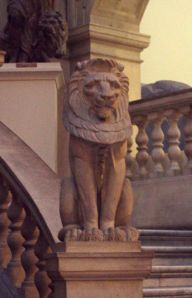 lion statue at bristol museum