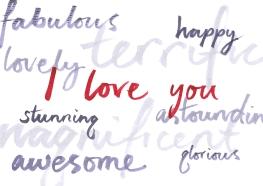 hand written brush typography