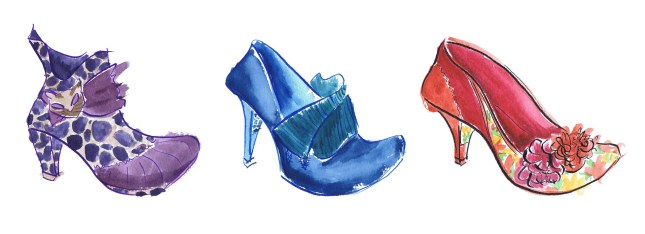 painted illustration of irregular choice shoes
