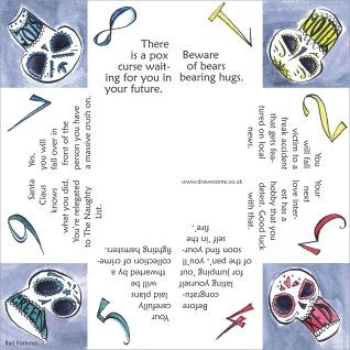 Illustrated origami fortune teller