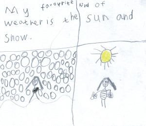 drawing by Laura Elliott age 7