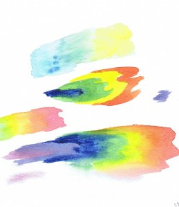 watercolour painting tests on paper by Laura Elliott of Drawesome Illustration