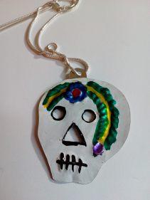 Tin sugar skull, Mexico