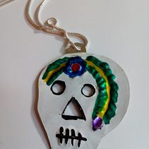 Tin sugar skull, Mexico