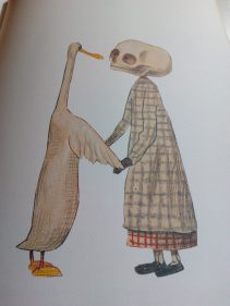 Illustraton from duck, Death and the Tulip by Wolf Erlbruch
